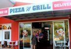 Sean, Elisa and Sofia at the new Rainbow Beach Pizza & Grill