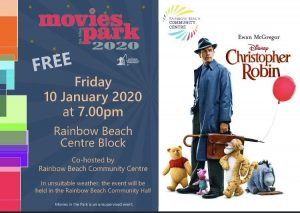 Enjoy Movies in the park at Rainbow Beach on Friday, January 10 at 7pm