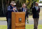 The Remembrance Service held at the TCB RSL Sub Branch with G. Braganza, Deputy President; Councillor Mark McDonald ; Pastor John Van Der Heidjke