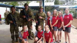 The students enjoyed a visit from the personnel from the Royal College of Duntroon in Canberra