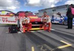 Ex local student, Toby Chappill, is the number two mechanic for the Shell V-Power Racing Team pictured with Sam Taylor