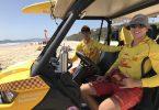 Alex Brantz and Anton Klekar on patrol and members of the Rainbow Beach Surf Club