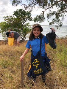 The Girl Guides will once again be helping with the clean up - pictured is Girl Guide Elizabeth Bird with her mother Shelley Bird.