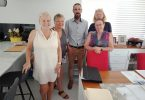 Di Warren - secretary, Julie Collins - treasurer, Nathan Hammond - MOWQ, Robyn Saul - president, Julie Thorne - assistant treasurer
