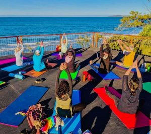 Glenda runs Sunrise Yoga on Tuesdays from 6 – 7am at the Rainbow Beach viewing platform opposite the caravan park - all welcome - only $12!