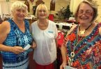 President Jo Said, Judy Kiddle and Jeanette Murray at the Probus Christmas Lunch