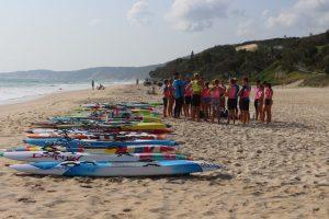 Clint Robinson training the U14-U17 Met Caloundra SLSC at Rainbow Beach last month