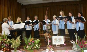 Coolabay Choir singing at the Flower Show at Cooloola Community Complex