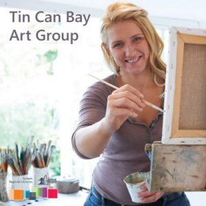 Tin Can Bay Art Group at the Tin Can Bay Library