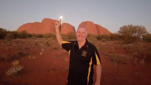Dave Hewitt will be missed greatly by all who knew him - photo at the Olgas on a recent trip with wife Kerri.