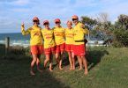 The Schooth Family - Vicki, Sophie, Abby, Emily and Justin - love the Rainbow Beach Surf Club