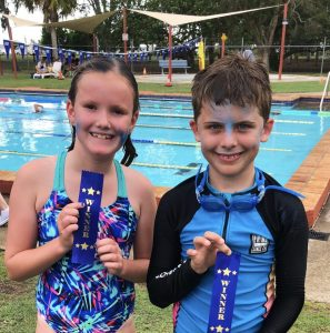 Congratulations to freestyle winners from Wallu, Chloe and Luke who won in the Under 9 years age group!