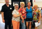 James Pennay, Sandy Hamilton, Marie Lally, Leanne Long and Heather Dickson at the Forest Wind Information Session at the Kia Ora Hall last month