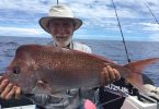 A regular Bill with his PB snapper landed whilst fishing on Baitrunner