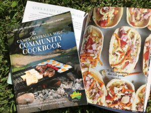 The Camps Australia Wide Community Cook Book is a perfect present for a mum who loves camping - and it is locally produced!