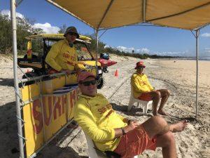 Please respect our lifesavers on patrol at Rainbow Beach - they are all unpaid volunteers who work or study like Anton Klekar, Brad Hethorn and Michael Brantz