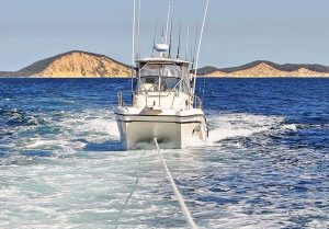 The long tow home for a struggling boatie by the Tin Can Bay Coast Guard - become a member today