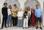 Three generations of Rainbow Beach Hospitality - Leigh Tinirau, Amanda Ladas, Paul Ladas, Eden Valerie Ladas, Valerie Albion, Carly Ladas , Frida Ladas, Susan Johnston, Kay-Lynn Ladas, Kostas Ladas about to open the newest Rainbow Beach Cafe