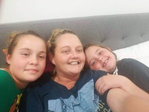Wishlist House - Felicity, (Mum) Vicki and Sophie, relaxing at Wishlist House, prior to operation day