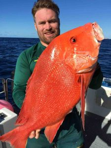 Ben with his personal best Red Emperor caught fishing on Baitrunner