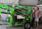 New Business - Dave and Janine Fawcett have a cherry picker for hire which is perfect for cleaning and maintenance or pruning trees