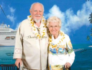 Two of Tin Can Bay's pioneers, Ned and Kate Kelly on one of the many cruises they both enjoyed