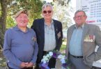 Ray Brown in SASR Beret, Peter Gilfoyle and Tin Can Bay RSL Sub branch President Don Holland at the Vietnam Vietnam's commemoration service