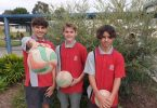 Wide Bay Volleyball team members Rakeen Masri, Blake Hale and Blayd Watt