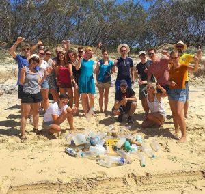 Volunteers enjoying the 2019 K'Gari Community Clean Up - get involved this year