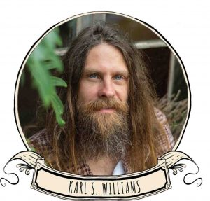 Karl S. Williams, singer, songwriter, multi-instrumentalist, visual artist and poet will perform at the 2020 Festival of Small Halls in Rainbow Beach