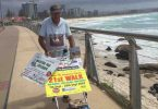 Claude 'The Mowerman' Harvey will be in Tin Can Bay and Rainbow Beach on October 25 meeting locals, raising awareness and money for Bravehearts