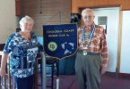 Former President, Jo Said, inducted Arthur Leggo as the new president of Cooloola Coast Probus Club