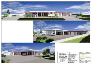 Artist impression of the new service station approved for Rainbow Beach