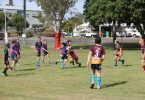 Great work from students who participated in the 'Bush versus Beach' Under 10s/11s football exhibition matches hosted at the Rainbow Beach Community Oval last month