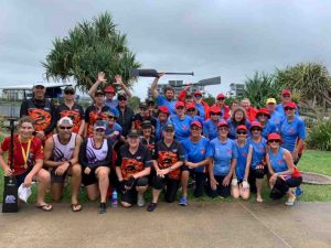 The Cooloola Coast Dragon Boaters are looking for new members - here they are joining forces with Hervey Bay and Bundaberg teams to compete at the Sunny Coast and they brought home two bronze medals and some great friendships.