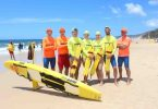 Members of the Brisbane Lifesaving Service helped out the local Rainbow Beach lifesavers last month while testing their skills in a new environment