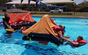 Regular training, including sea survival training by the Tin Bay Coast Guard, ensures they are well prepared for a callout at any time