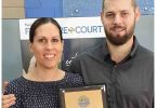 Owners of Davies Furniture Court Gympie, Linda and Mark Tunstall ,win gold