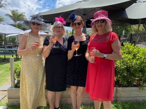 At The Decks, Michelle Watson, Rose Mayes, Jennifer George and Heather Parker indulged in sumptuous seafood platters to celebrate the big day