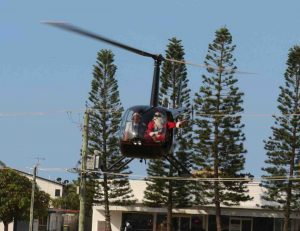 Rainbow Beach Helicopters are bringing Santa to the event in style