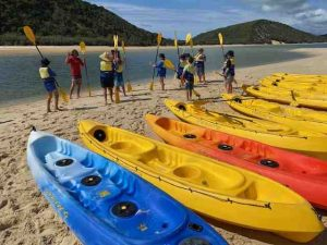 Rainbow Beach State School 'Learn to Surf and Kayak Session' supported by Epic Ocean Adventures