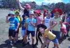 Some of the Tin Can Bay Year 4 students enjoying their fun in the sun