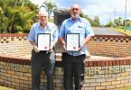 Stan & Terry with their Tin Can Bay RSL Life Memberships