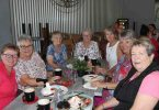 QCWA ladies Rowena,Judy, Brenda, Dawn, Jill, Wendy and Dawn strawberries and raising money for cancer at Cooloola Berries