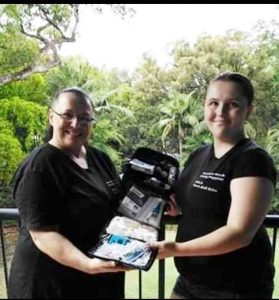 Marie Gee and her daughter Renee owners of Rainbow Beach Safety Supplies