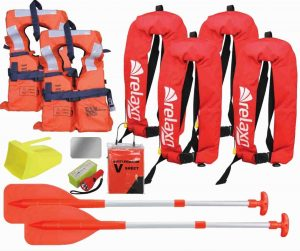 Ensure your life jackets and inflatable jackets comply with standard boating safety regulations, are in good condition and everyone on the boat is wearing them