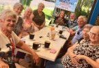 Probus members at Temptations Café: Joan Barnier, Katrina van den Brenk, Jo Said, Cherryl Mossman, Jeanette and Rob Murray, (Arthur Leggo - President! hidden), Daryl and Ann Christie, and Barbara McKenzie