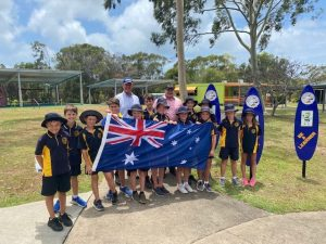 Rainbow Beach State School - Flags and Graduation certificates from Mr Llew O'Brien