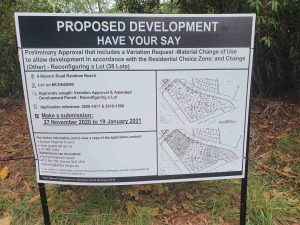 Calls for submissions on the Shores golf course development