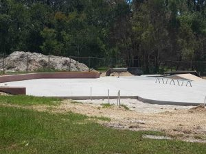 Progress will continue after new year on the skate park upgrade in Cooloola Cove to include a multi-use basketball half court, shade shelter, low wall seating and open skate bowl